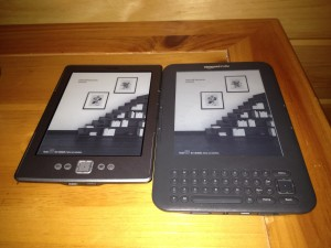 Side by Side Kindle 4 and Kindle With Keyboard