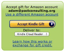 Accept a Kindle Book as a Gift