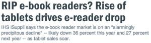 RIP ebook readers