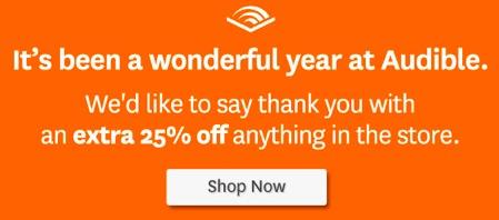 Audible.com Member Thank You Sale