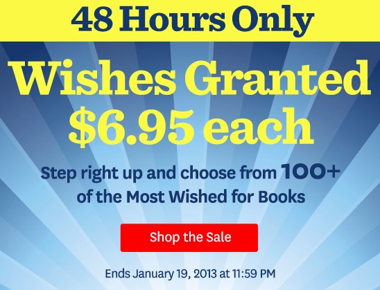 Audible.com wishes Granted sale