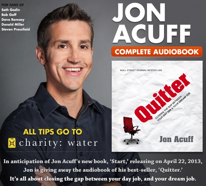 Free Audiobook of Quitter by Jon Acuff