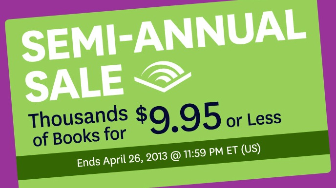 Audible.com Semi-Annual Sale