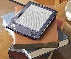 English: A Picture of a eBook Espaol: Foto de...