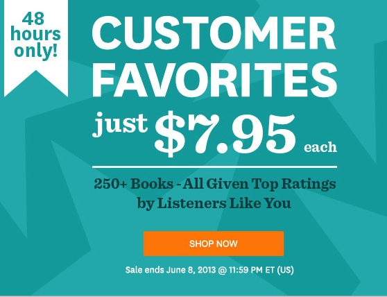 Audible.com Customer Favorites Sale