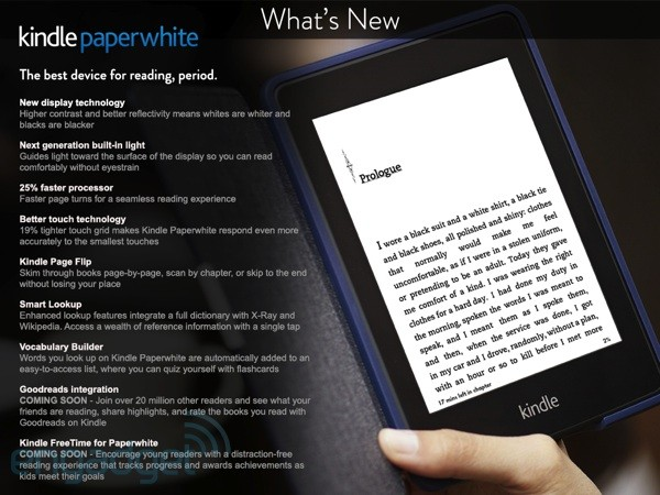 Next Generation Kindle Paperwhite released.