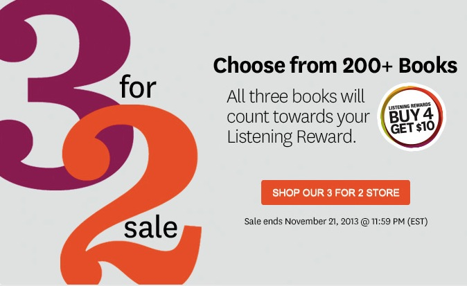 Audible 3 for 2 Sale