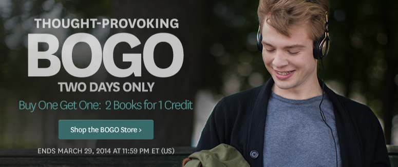 Audible BOGO Sale