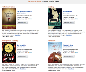 September Kindle First Books