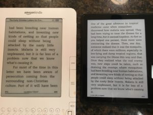 My kindle oasis and my kindle 2